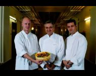Chef Laurent Zajac, Chef Gérard Vié, Chef Christophe Luciana